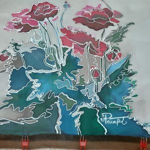 Marisol Peñafiel  Pintura sobre seda